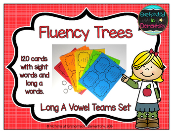 Fluency Trees- Long A Vowel Teams Set