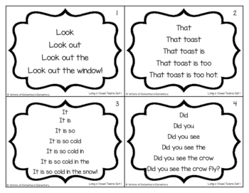 Fluency Trees- Long O Vowel Teams Set