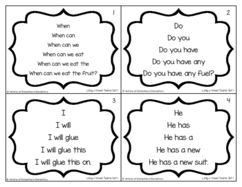 Fluency Trees- Long U Vowel Teams Set