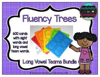 Fluency Trees- Long Vowel Teams Bundle