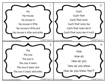 Fluency Trees- Vowel Digraphs and Diphthongs Set