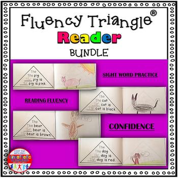 Reading Fluency Activity - Fluency Triangle Reader Sight Word Bundle {RTI}