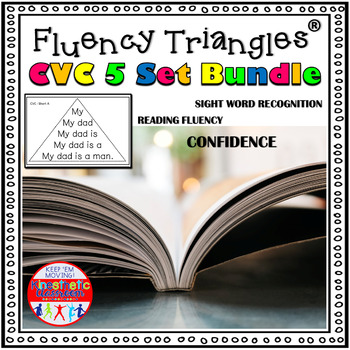 Reading Fluency Activity - Fluency Triangles® CVC Bundle {RTI}