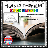 Reading Fluency Activity - Fluency Triangles® CVCE Bundle {RTI}