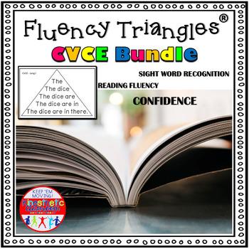 Reading Fluency Activity - Fluency Triangles® CVCE Bundle {RTI}