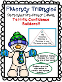 Reading Fluency Activity - Fluency Triangles® December PP Sight Words {RTI}