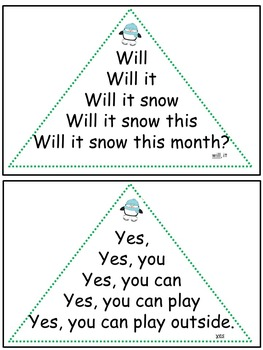 Reading Fluency Activity - Fluency Triangles® December Primer Sight Words {RTI}