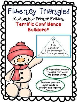 Reading Fluency Activity - Fluency Triangles® December Pri