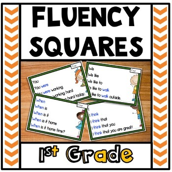 Reading Fluency Squares First Grade Sight Words
