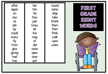 Reading Fluency Squares First Grade Sample