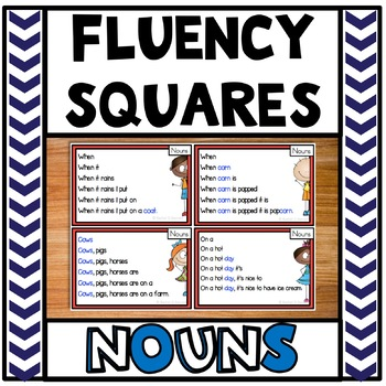 Reading Fluency Squares Nouns