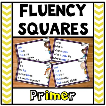 Reading Fluency Squares Primer SAMPLE