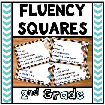 Reading Fluency Squares Second Grade Sample