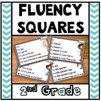 Reading Fluency Squares Second Grade Sample