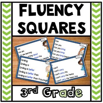 Reading Fluency Squares Third Grade Sample