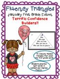 Reading Fluency Activity Fluency Triangles® January First Grade Sight Words RTI
