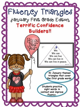 Reading Fluency Activity Fluency Triangles® January First Grade Sight Words RTI