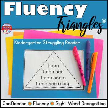 Reading Fluency Activity - Fluency Triangles® Kindergarten Struggling Reader RTI
