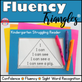 Reading Fluency Activity - Fluency Triangles® Kindergarten Struggling Reader RTI