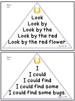Reading Fluency Activity - Fluency Triangles® March First Grade Sight Words RTI