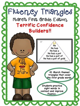Reading Fluency Activity - Fluency Triangles® March First