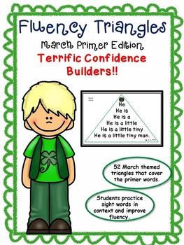Reading Fluency Activity - Fluency Triangles® March Primer