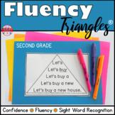Reading Fluency Activity Fluency Triangles® Second Grade Sight Words RTI Digital