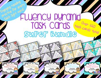 Fluency Pyramid Task Cards **Super Bundle** {5 sets, totaling 220+ task cards}
