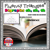 Reading Fluency Activity - Fluency Triangles® for Digraphs CH, SH, and TH {RTI}