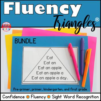 Reading Fluency Activity - Fluency Triangle® Sight Word Bundle {RTI}