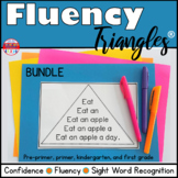 Reading Fluency Activity Fluency Triangle® Sight Word Bundle RTI Digital