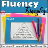 Reading Fluency Activity Fluency Triangles® for Primer Sight Words RTI Digital