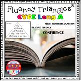 Reading Fluency Activity - Fluency Triangles ® for Long A CVCE Words {RTI}