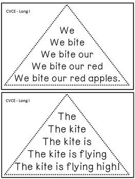 Reading Fluency Activity - Fluency Triangles® for Long I CVCE Words {RTI}