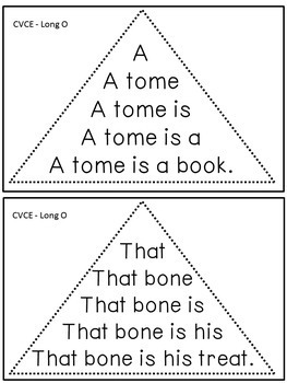 Reading Fluency Activity - Fluency Triangles® for Long O CVCE Words {RTI}