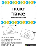 Fluency Triangles for Middle Schoolers