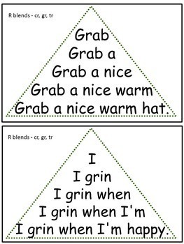 Reading Fluency Activity - Fluency Triangles® for R Blends: CR, GR, TR {RTI}