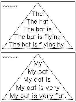 Reading Fluency Activity - Fluency Triangles® for Short A CVC Words {RTI}
