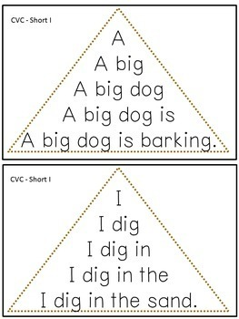 Reading Fluency Activity - Fluency Triangles® for Short I CVC Words {RTI}