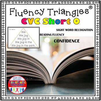 Reading Fluency Activity - Fluency Triangles® for Short O CVC Words {RTI}