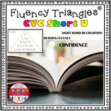 Reading Fluency Activity - Fluency Triangles® for Short U CVC Words {RTI}
