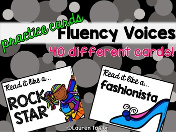 Fluency Voices- Practice Cards