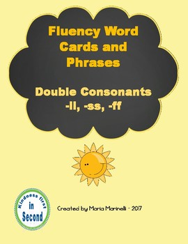 Fluency Word Cards and Phrases  Double Consonants -ll, -ss, -ff