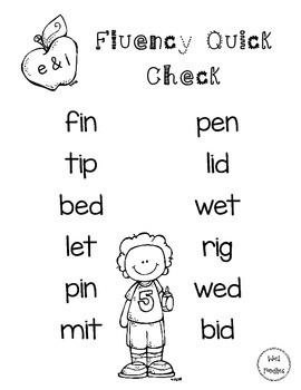 Fluency Word Lists - Set 1