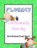 Fluency Words Per Minute Data Notebook Graph Sheets for kindergarten