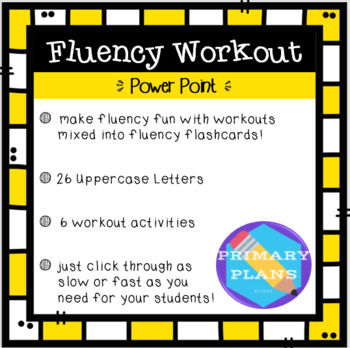 Fluency Workout - Uppercase Letter Recognition