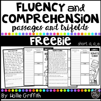 Fluency and Comprehension Brochures FREEBIE {short a, long a}
