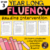 Reading Intervention Fluency Passages & Comprehension - 3rd Grade Level