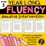 Reading Intervention Fluency Passages & Comprehension - 3rd Grade Level