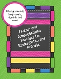 Fluency and Comprehension Passages for Kindergarten and First Grade